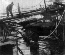 Порт живет новой жизнью. Фото в рабочем журнале «Экран». 21 июля 1929 г.