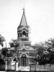 Беляевка. Николаевская церковь на ул. Шевченко. 1980-е гг.