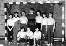 Беляевка. Спортивная школа. Гандбольная женская команда. Конец 1980-х гг.
