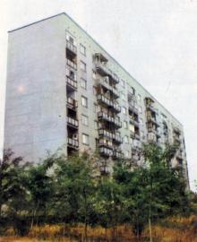 Здесь живут труженики завода. Фото в брошюре «Одесский суперфосфатный завод», 1986 г.