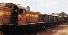Отгрузка минеральных удобрений в Ильичевский порт. Фото в брошюре «Одесский суперфосфатный завод», 1986 г.