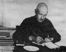 Видный ученый-химик профессор Э.К. Лопатто. С 1930 по 1935 гг. работал главным инженером завода. Фото в очерке «Арсенал земледельцев». Одесса. 1974 г.