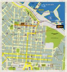 План центра города в издании «Одесса: карта города, музеи, достопримечательности». 2009 г.