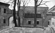 Александровский проспект, 20, внутренний двор, художник Э. Мальц, 1920-е годы