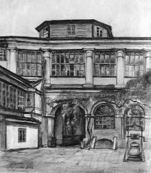 Ул. Греческая, 35, внутренний двор, художник У. Хитер, 1924 г.