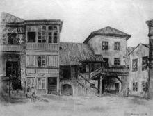 Ул. Греческая, 15, внутренний двор, художник Э. Мальц, 1924 г.