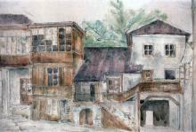 Ул. Греческая, 15, внутренний двор, художник У. Хитер, 1920-е годы