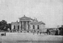 Городская публичная библиотека на Биржевой площади. Фотография в книге «Одесса. 1794–1894». 1894 г.