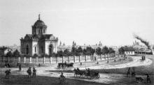 Входоиерусалимская церковь на Тираспольской заставе (2-я Застава), построена в 1858 г.