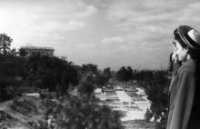 Вид на Дворец пионеров (Воронцовский) и Пионерский (Лунный) парк