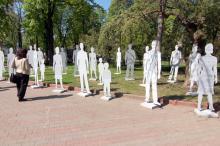 В Одессе открыли инсталляцию против торговли людьми