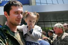 В Одессе встретили бойцов, вернувшихся из зоны АТО