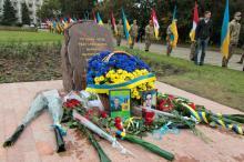 В Одессе заложен памятный камень на месте Мемориала воинам, павшим в АТО