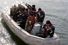 Одесские морские пограничники тренируются работать в смотровых группах