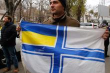 В Одессе – акция в поддержку захваченных россиянами моряков